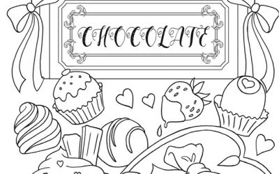 Free Chocolate Coloring Page