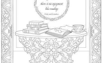Free Jane Austen Coloring Page