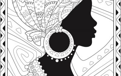 Free Patterned Woman Coloring