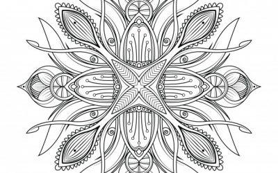 Free Nature Mandala Coloring