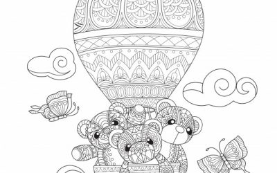Free Teddy Balloon Coloring