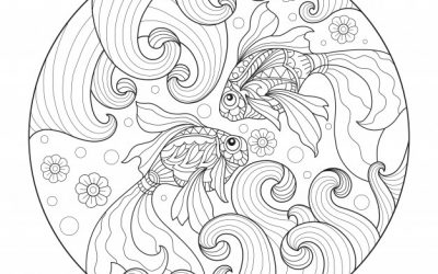Free Goldfish Zentangle Coloring