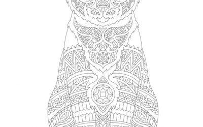 Free Animal Pattern Coloring Page