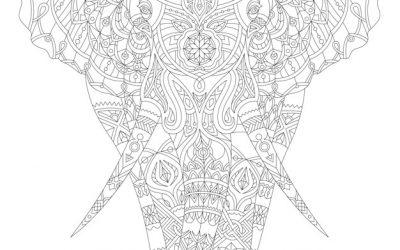 Free Elephant Coloring Sheet