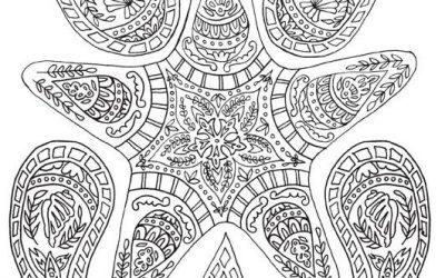 Free Paisley Star Coloring