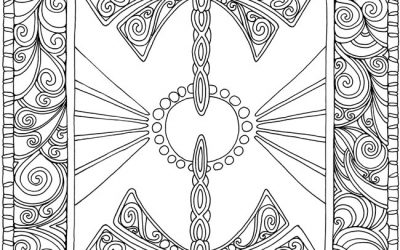 Free Ornate Dragonfly Coloring