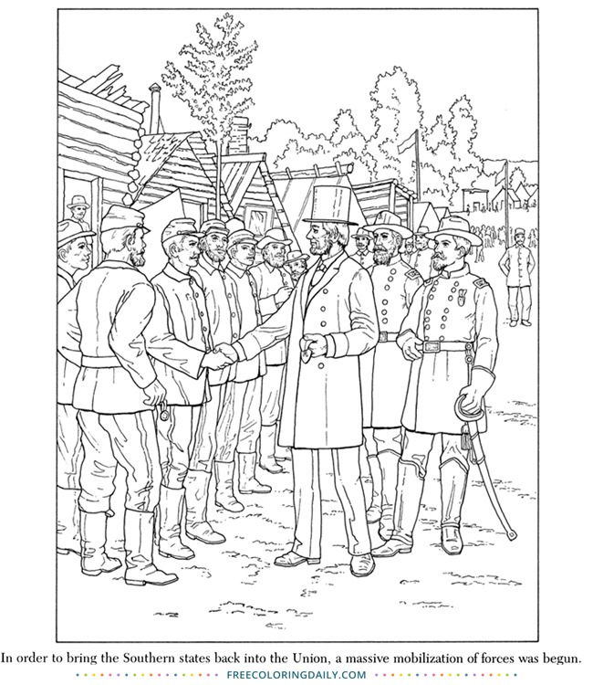 Free Civil War Coloring Page