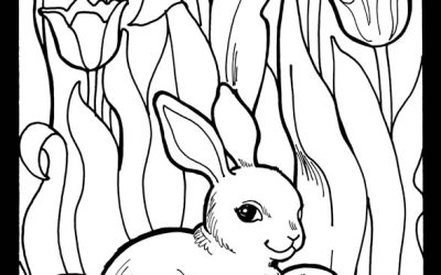 Free Cute Easter Bunny Coloring