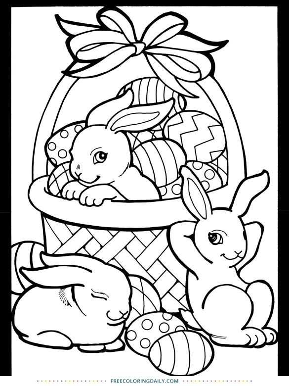 Free Easter Basket Coloring