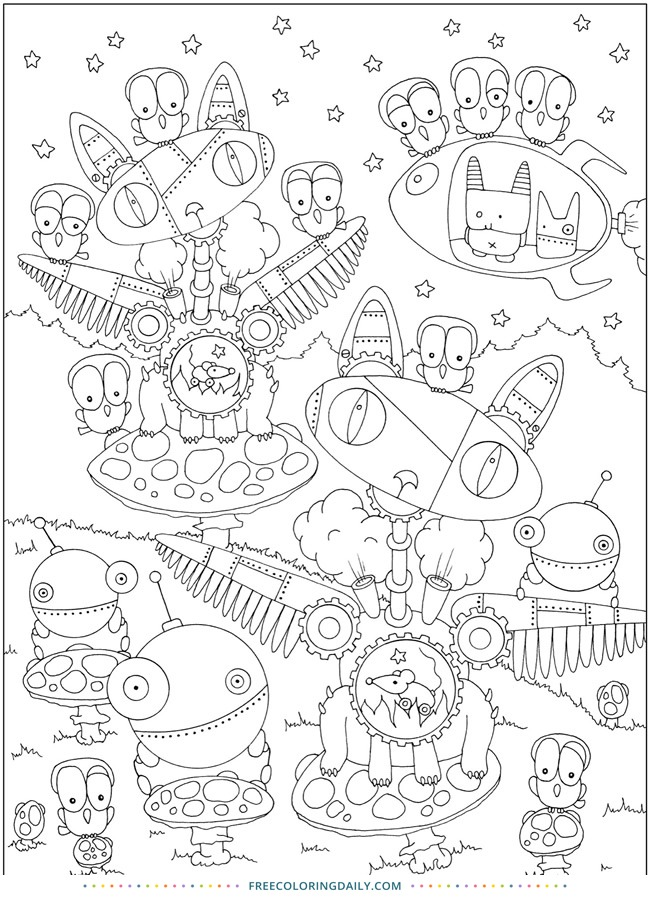 Free Silly Coloring Page