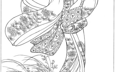 Free Asian Lady Coloring