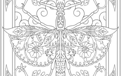 Lovely Moth Free Coloring