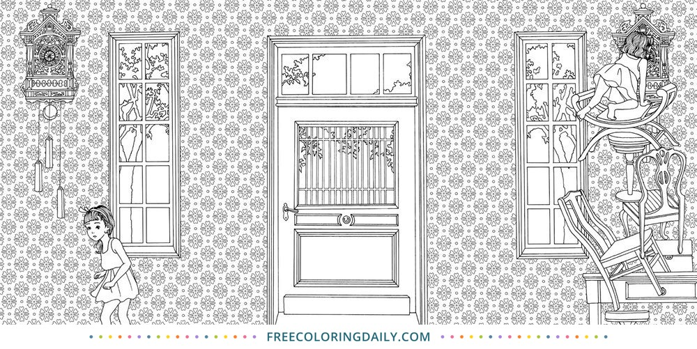 Free Dreamy Door Coloring