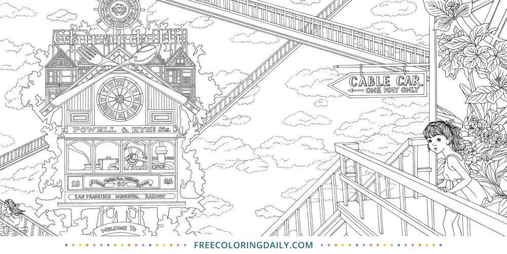 Free San Francisco Coloring Page