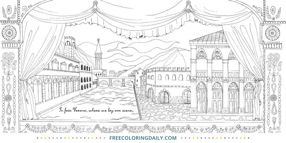 Free Coloring Page of Venice