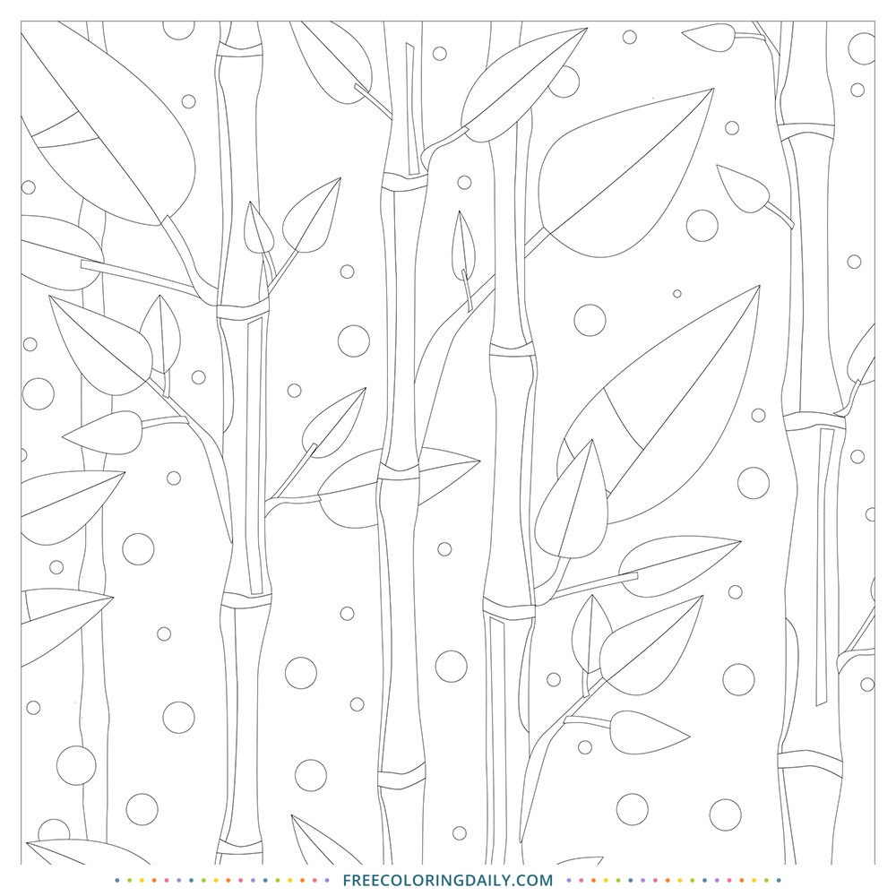 Peaceful Bamboo Coloring – Free!
