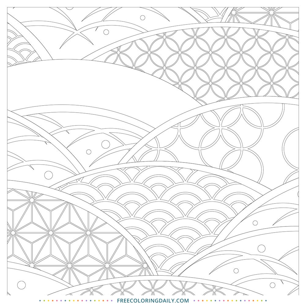 Free Pattern Waves Coloring