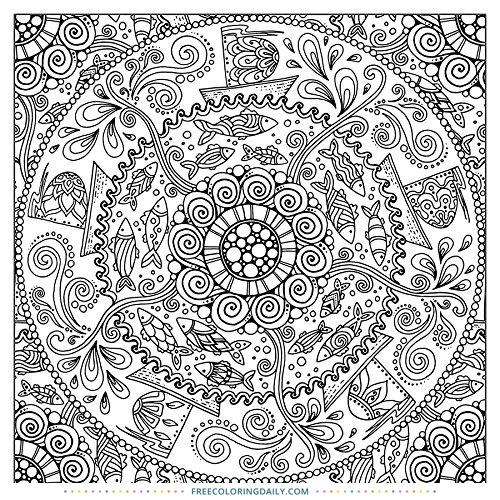Free Gorgeous Circle Pattern Coloring