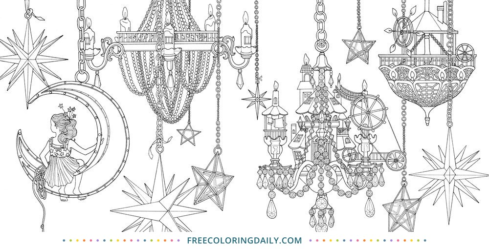 Free Chandelier Coloring