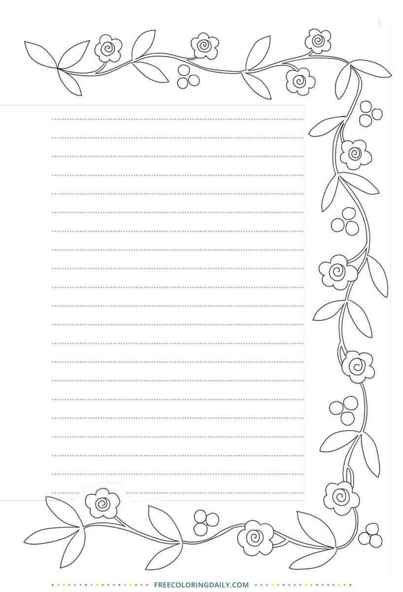 Free Journal Coloring Page