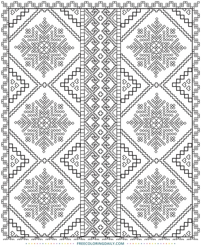 Free Quilt Pattern Coloring