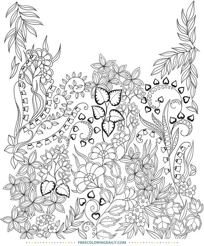 Free Pretty Foliage Coloring