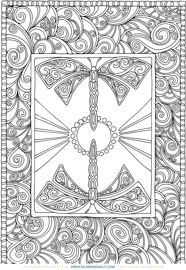 Free Dragonfly Coloring