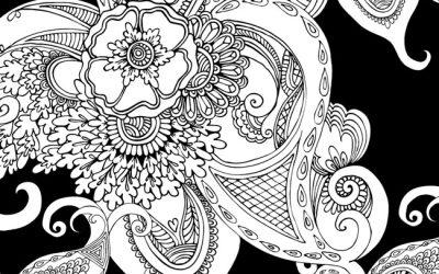 Free Black Pattern Coloring