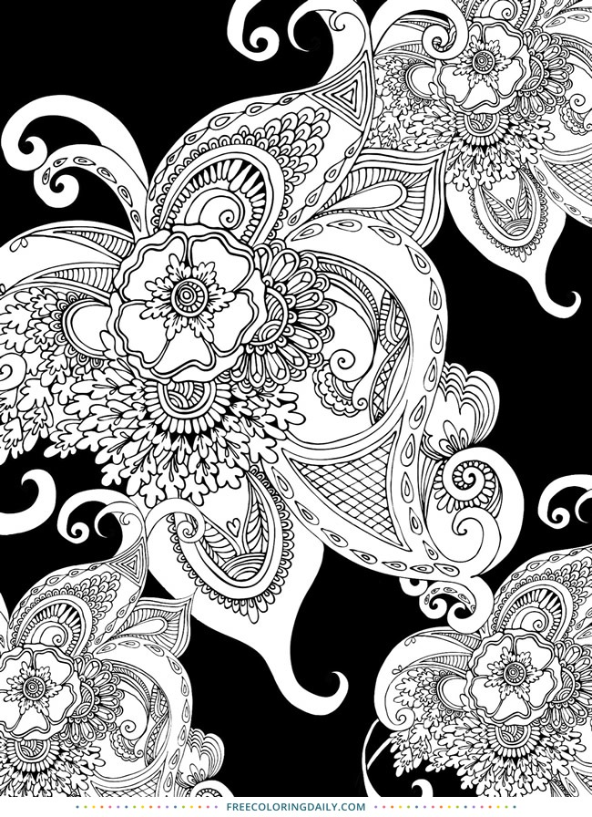Free Black Pattern Coloring