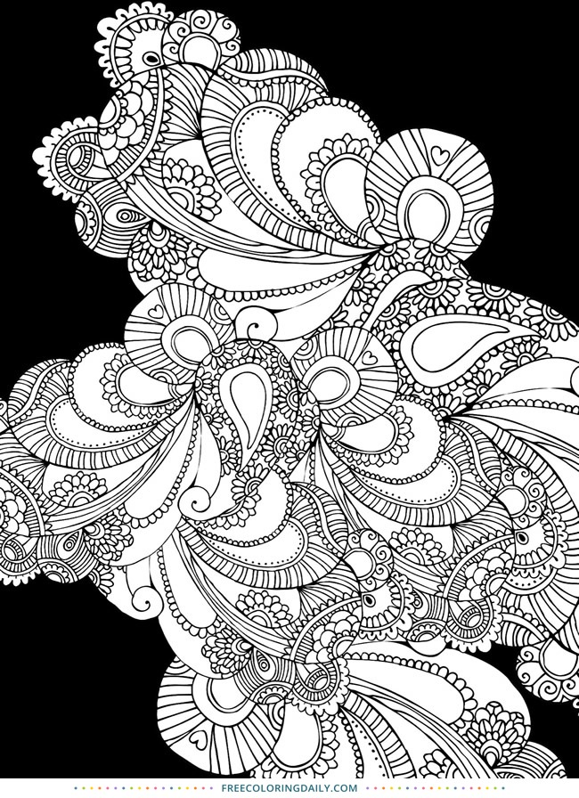 Free Patterns Coloring Page