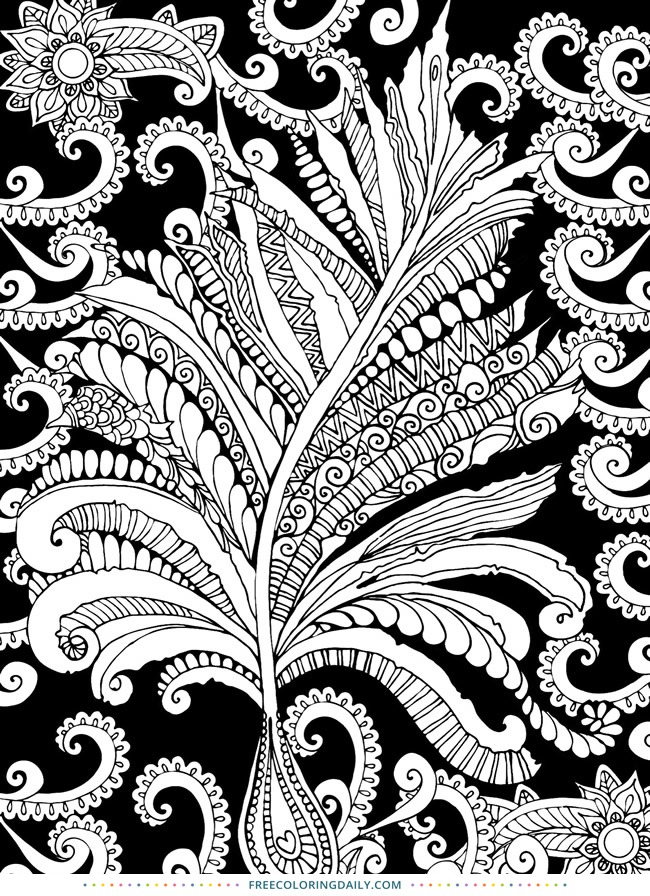 Fern Foliage Free Coloring
