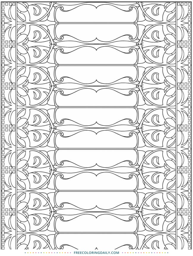 Free Design Coloring Page
