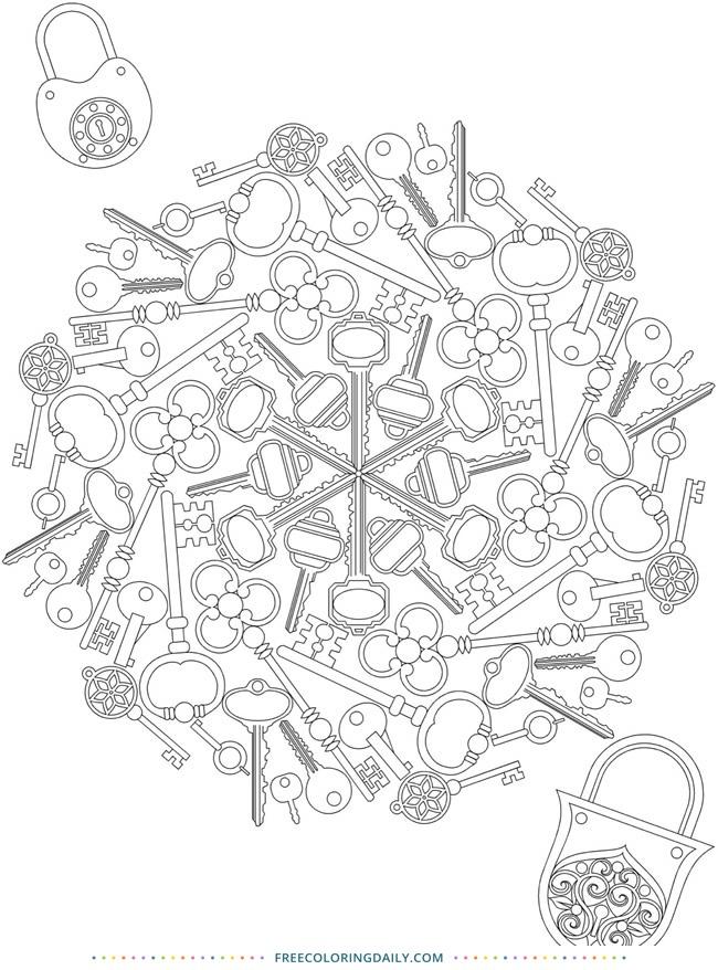 Free Lock & Key Coloring