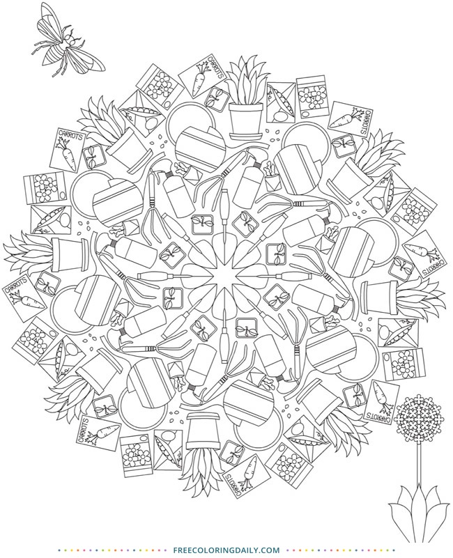 Garden Topiary Free Coloring