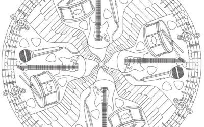 Free Music Coloring Page