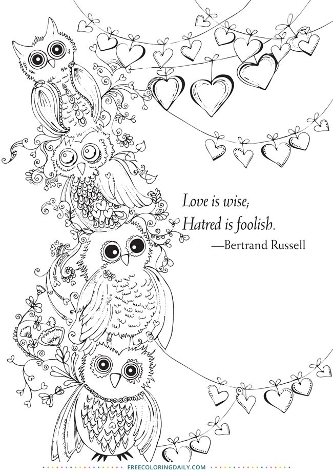 Free Owl Coloring
