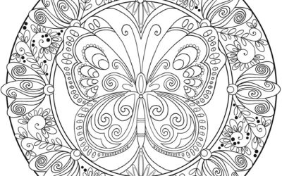 Butterfly Mandala Free Coloring Page