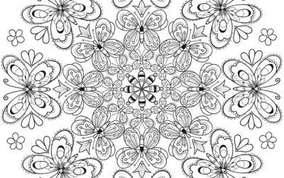 Free Beautiful Butterfly Mandala Coloring