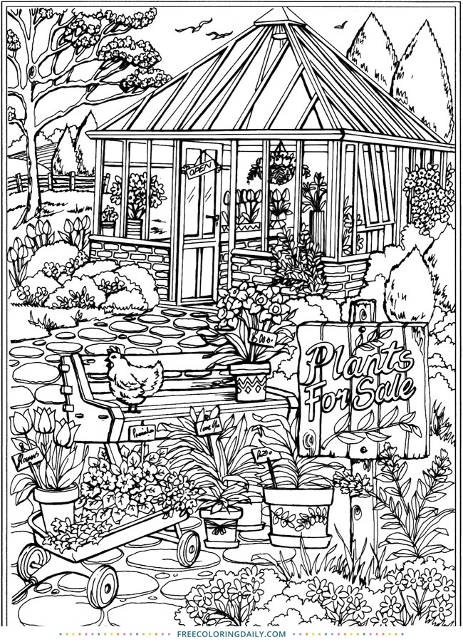 Free Garden Coloring Page