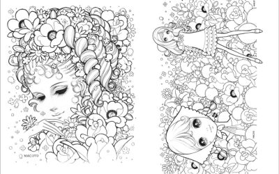 Free Floral Lady Coloring