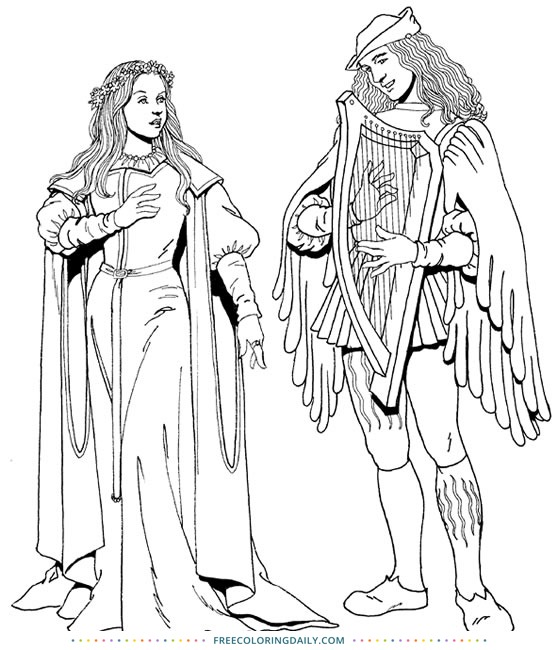 Free Medieval Coloring Page