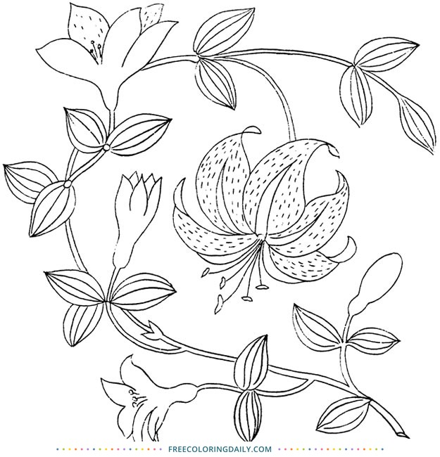 Free Floral & Vine Coloring