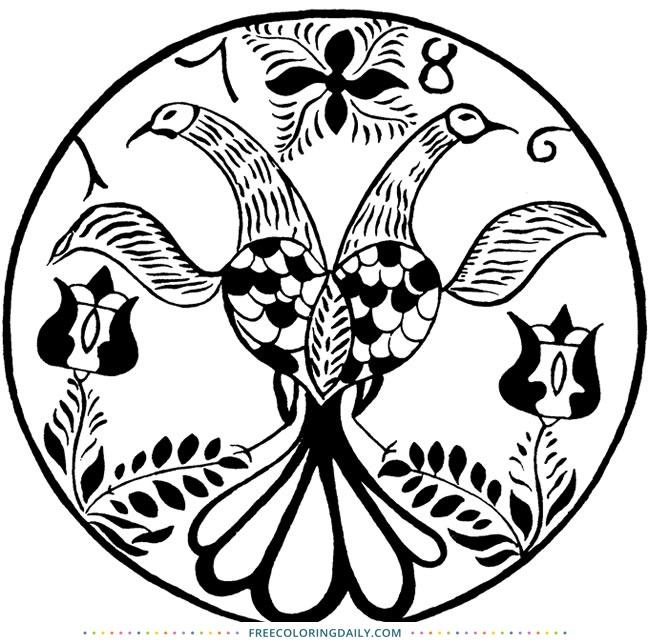Free Coloring – Vintage Birds