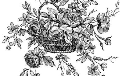 Free Vintage Floral Coloring