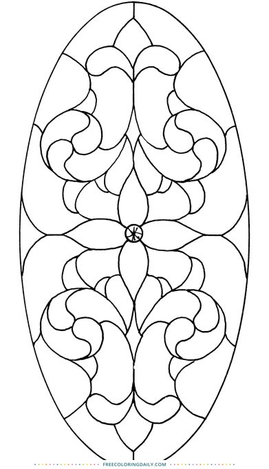 Free Stained Glass Panel to Color