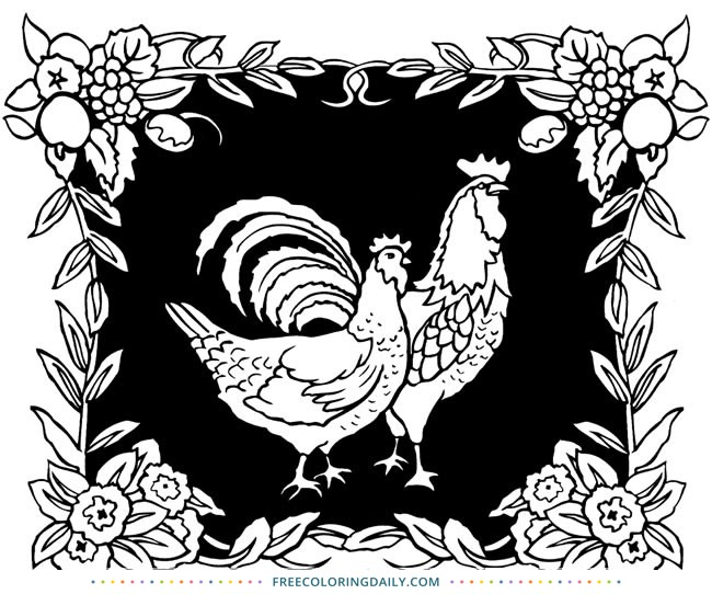 Gorgeous Farm Coloring Print – FREE!