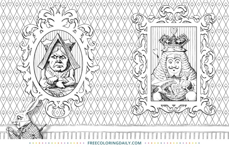 Free Alice in Wonderland Coloring