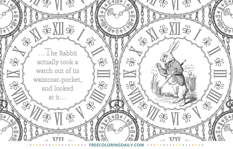 Free Vintage Clock Coloring