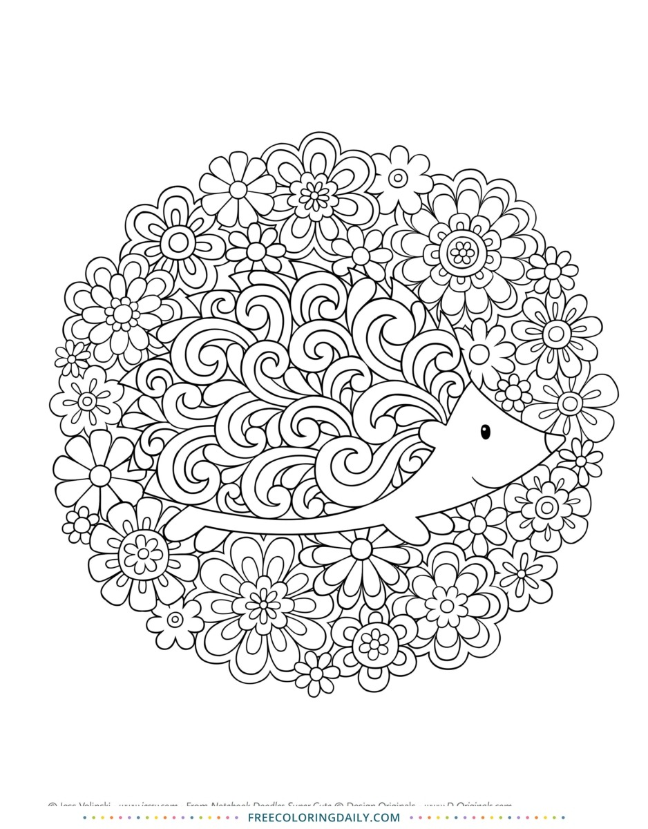Free Hedgehog Coloring Sheet