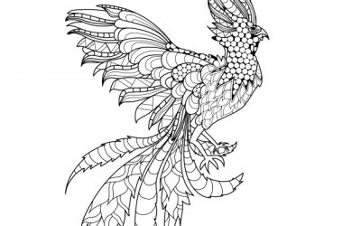 Free Phoenix Coloring Page